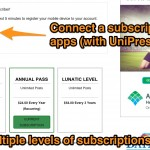 Offer multiple subscription levels