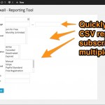 Subscriber reporting tool (CSV export)
