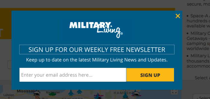 Newsletter Signup for Organic Subscriptions