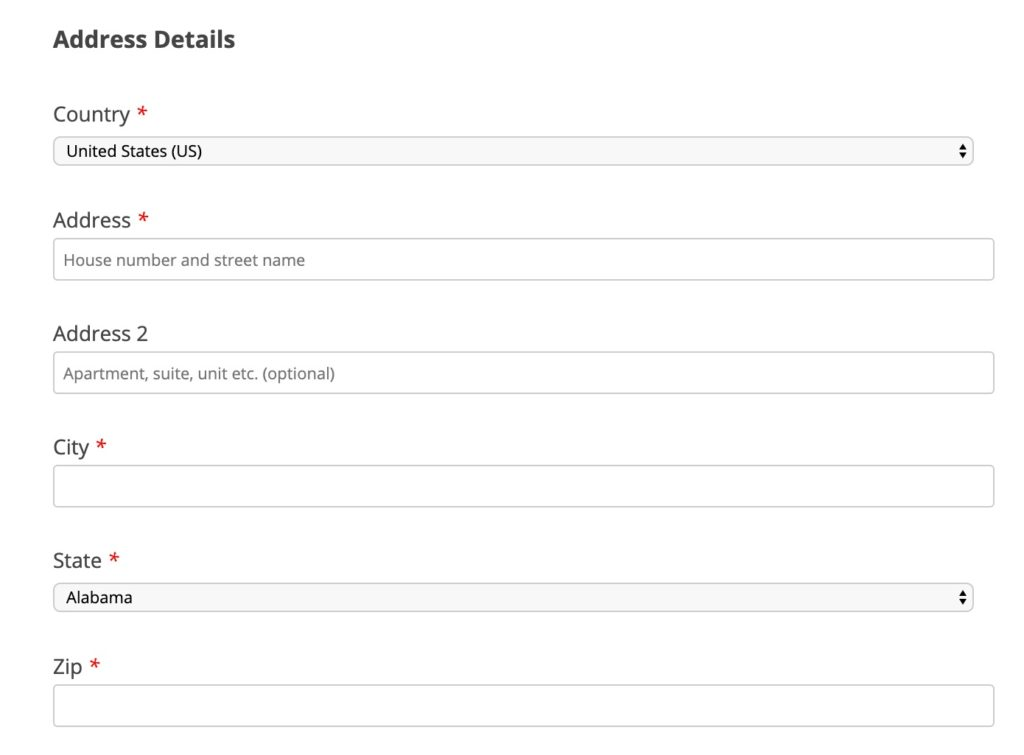 leaky paywall basic shipping registration fields